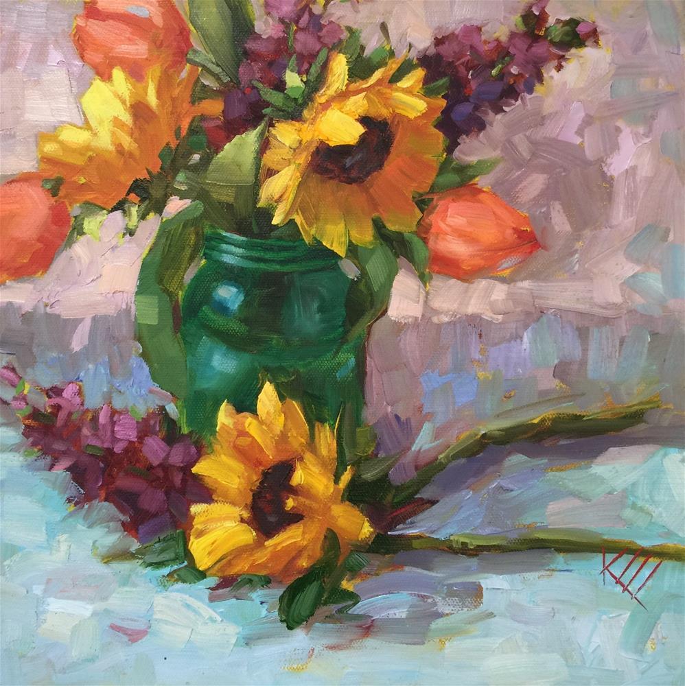 """Sunshine bouquet II"" original fine art by Krista Eaton"