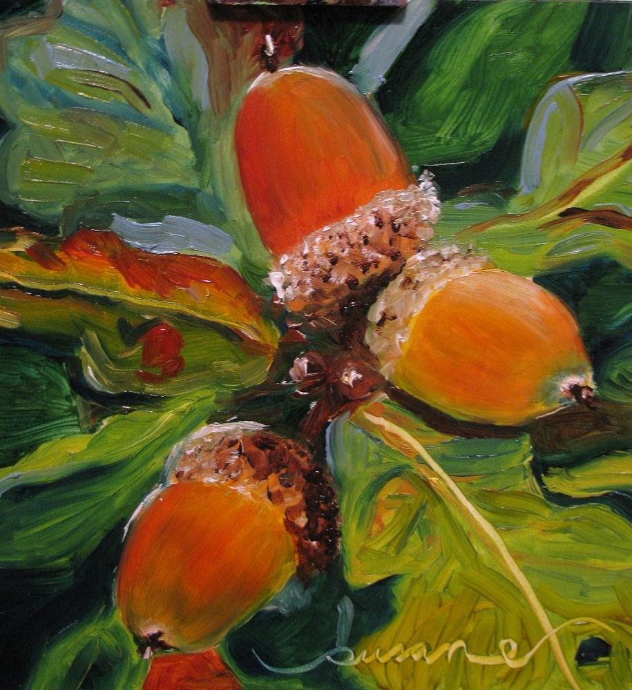 """""""Autumn Oak"""" original fine art by Susan Elizabeth Jones"""