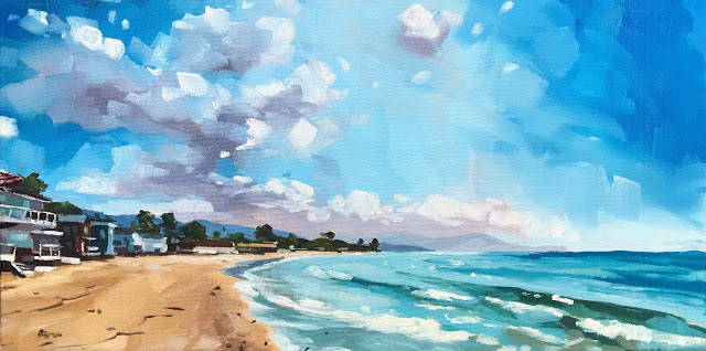"""Miramar Beach - 8x16"" original fine art by Sharon Schock"