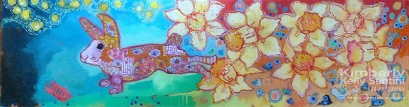 """Spring, in Process"" original fine art by Kimberly Santini"