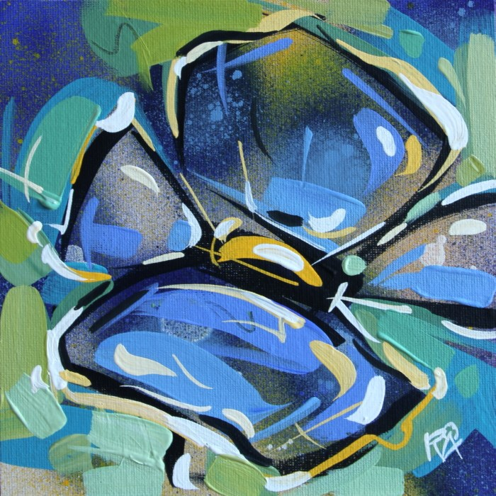 """Flower Abstraction 143"" original fine art by Roger Akesson"