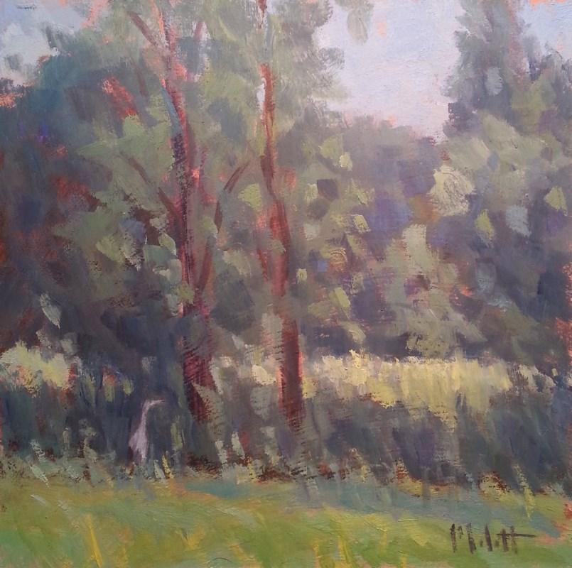 """Blue Heron Wetland Bird landscape"" original fine art by Heidi Malott"