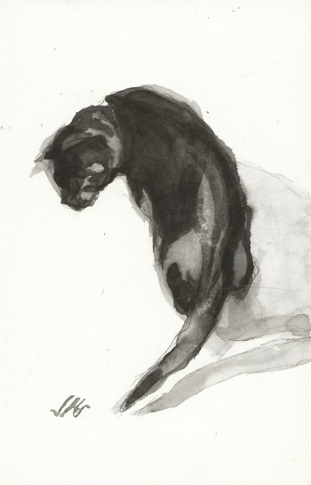 """Daily Cat 140"" original fine art by Jean Krueger"