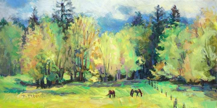 """Spring Pasture"" original fine art by Robin Peterson"