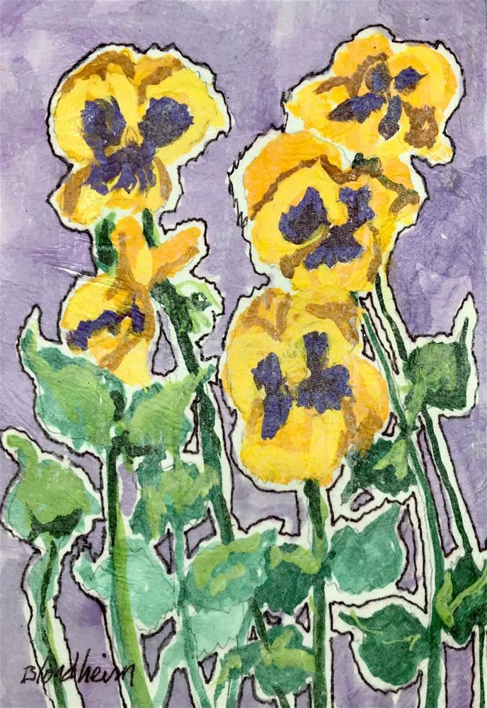 """Pansies"" original fine art by Linda Blondheim"