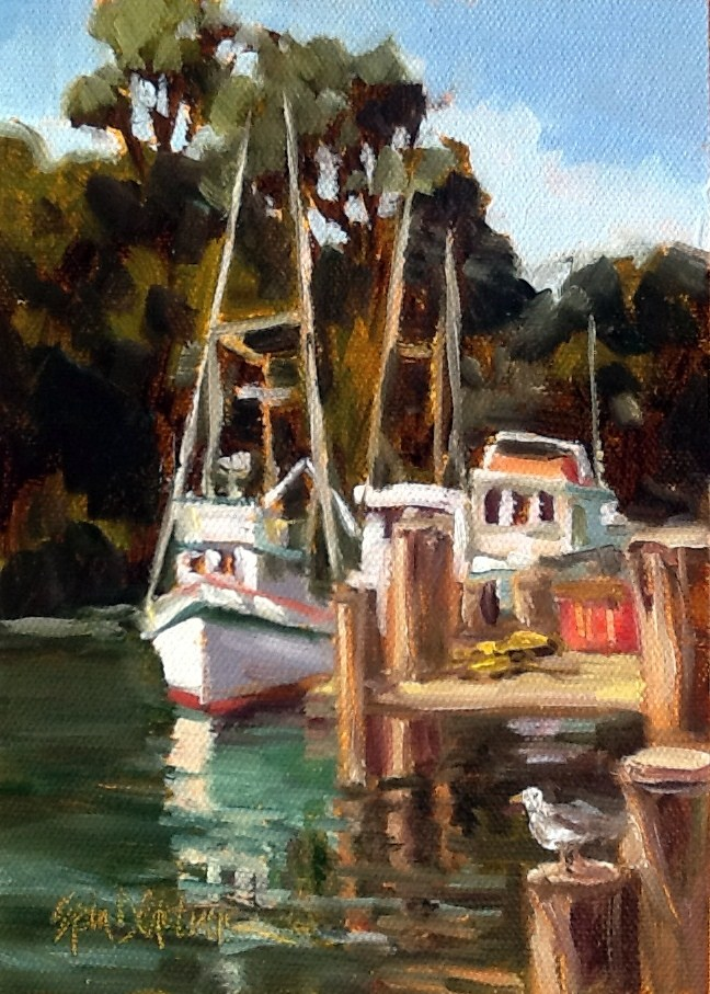 """Afternoon Mooring"" original fine art by Erin Dertner"