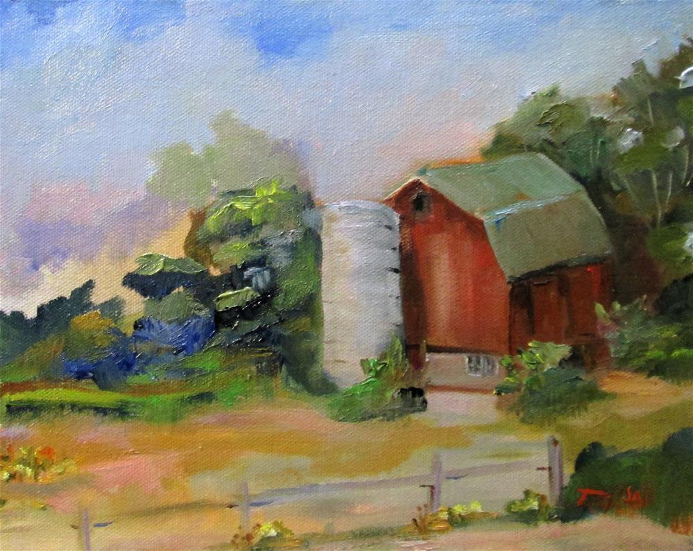 """Barn and Silo"" original fine art by Delilah Smith"