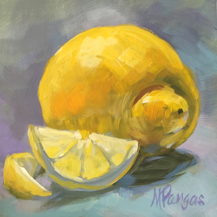 """""""Snubnosed Lemon with Smile"""" original fine art by Mary Pargas"""