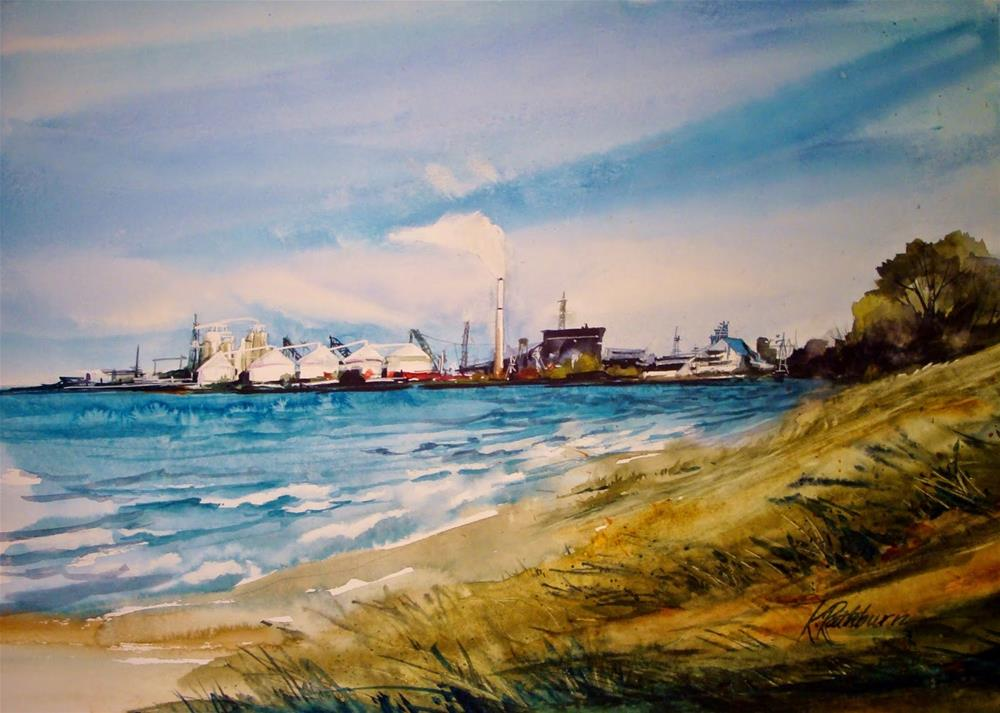"""Industrial Skyline"" original fine art by Kathy Los-Rathburn"