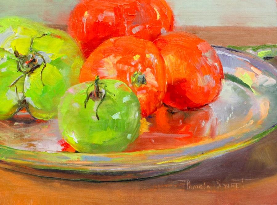 """Green with Envy"" original fine art by Pamela Sweet"