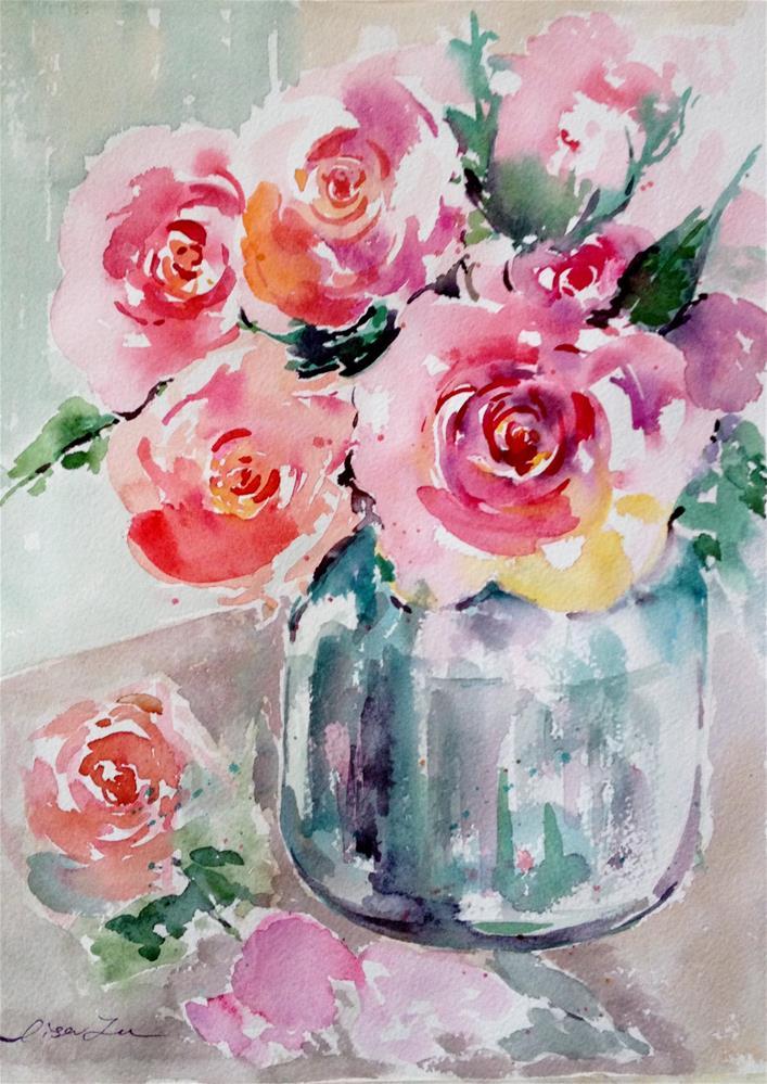 """Winter blooming in Southern California"" original fine art by Lisa Fu"