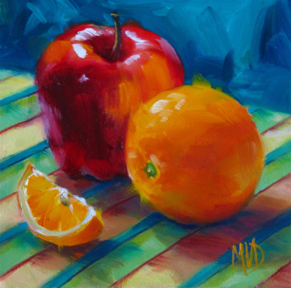 """Apples 'n Oranges"" original fine art by Mary Van Deman"