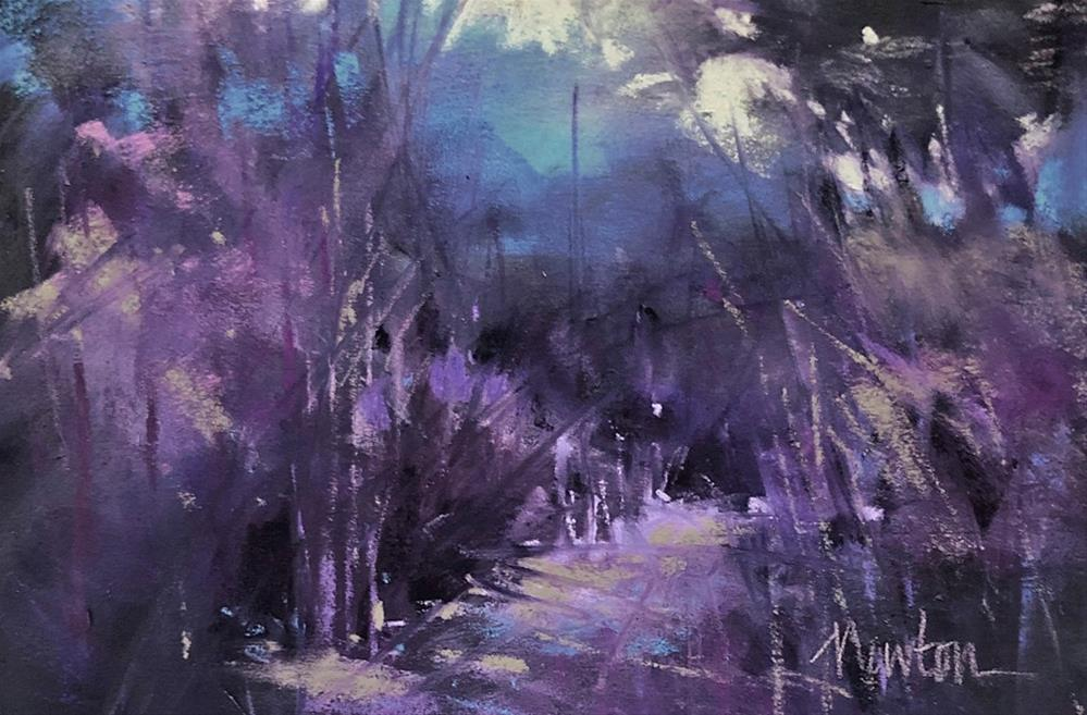 """Violet Evening"" original fine art by Barbara Benedetti Newton"