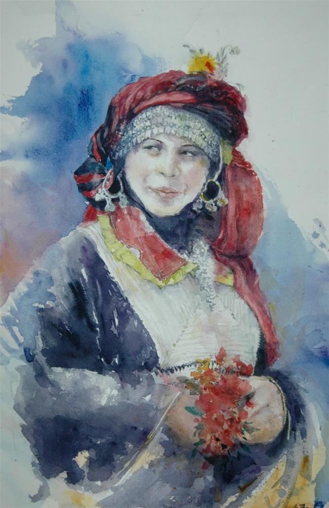 """Festival in Yemen"" original fine art by Midori Yoshino"