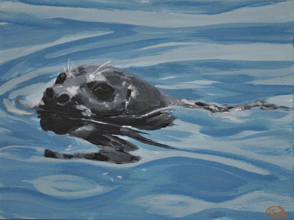 """""""Curious Seal"""" original fine art by Shari Buelt"""