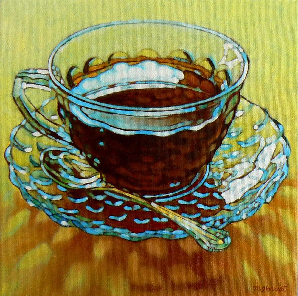 """Clouds In My Coffee"" original fine art by Margaret Horvat"