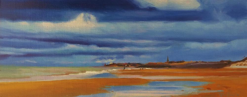 """Stormy clouds"" original fine art by Víctor Tristante"
