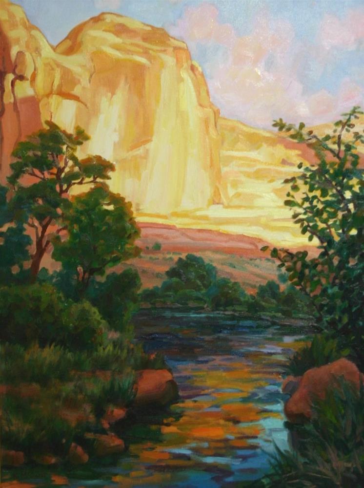 """Golden Rock Stream"" original fine art by K.R. McCain"