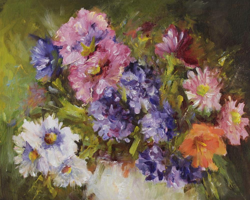 """Original flower floral still life impressionism oil painting"" original fine art by Alice Harpel"