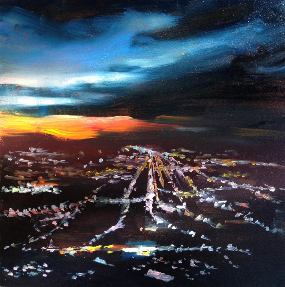 """Night Flight"" original fine art by Claudia L Brookes"