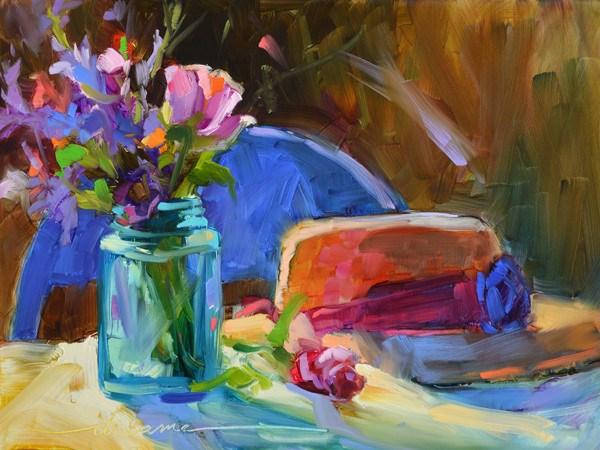 """Happy Hearts"" original fine art by Dreama Tolle Perry"