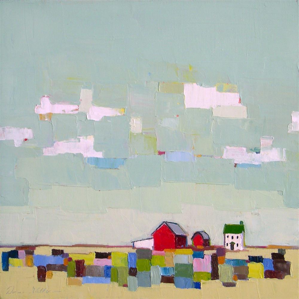 """Patch of Blue"" original fine art by Donna Walker"