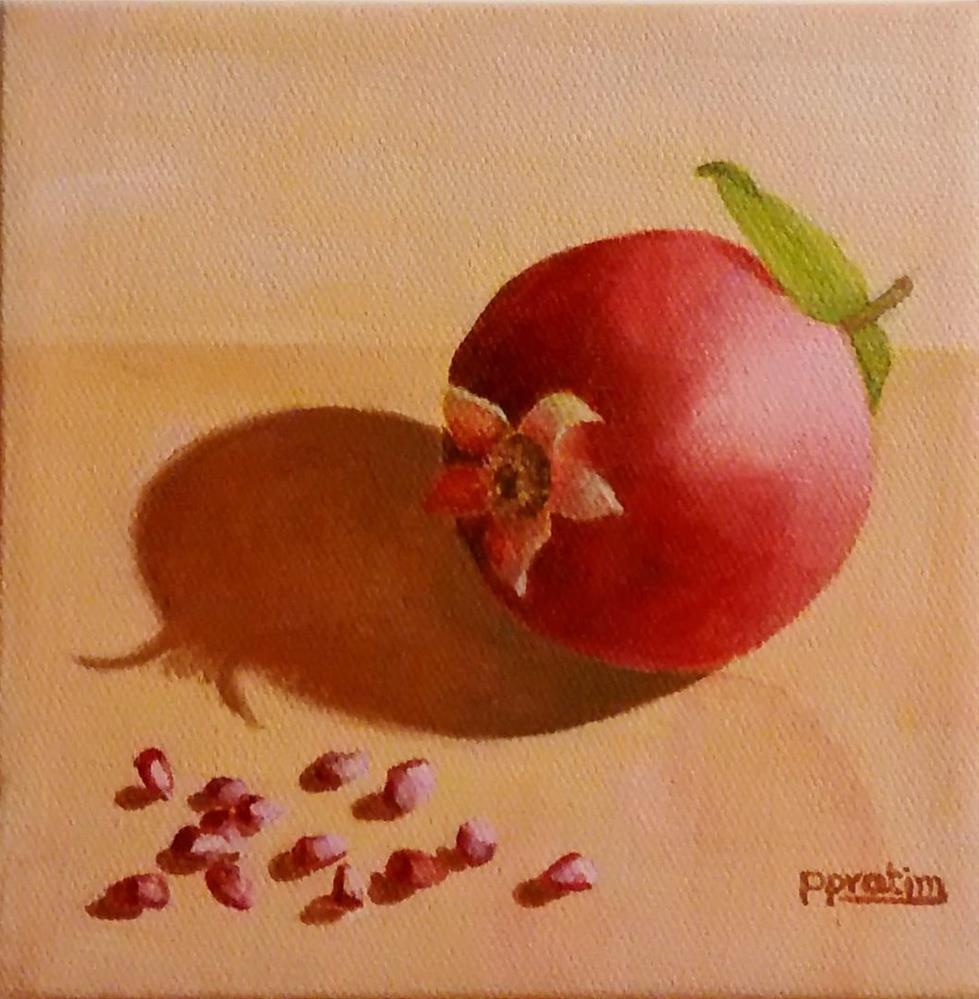 """""""A pomegranate"""" original fine art by Pratima Patel"""