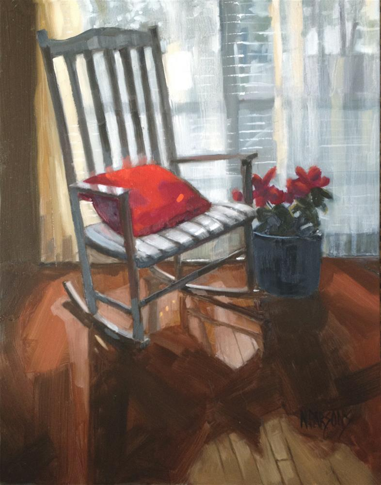 """SOLD- Seeing Red"" original fine art by Nancy Parsons"