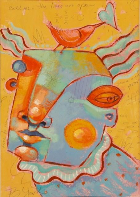 """Fine-Feathered Love"" original fine art by Brenda York"