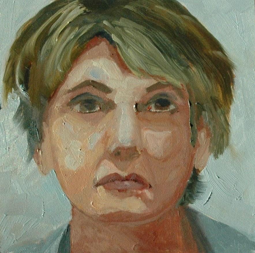 """""""FACE No. 108"""" original fine art by Linda Popple"""