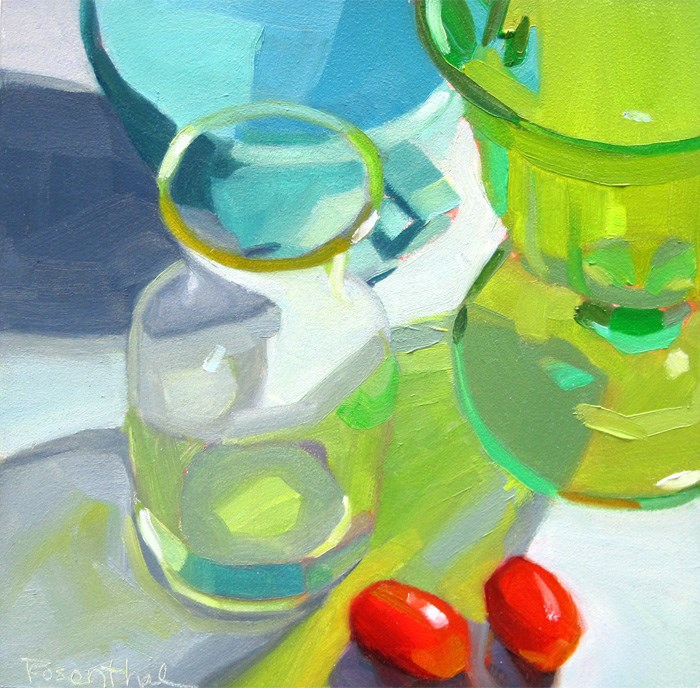 """Bottle Arrangement Two"" original fine art by Robin Rosenthal"
