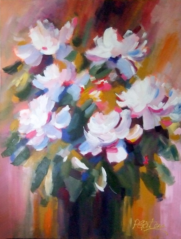 """Big Bloomers"" original fine art by Pamela Gatens"