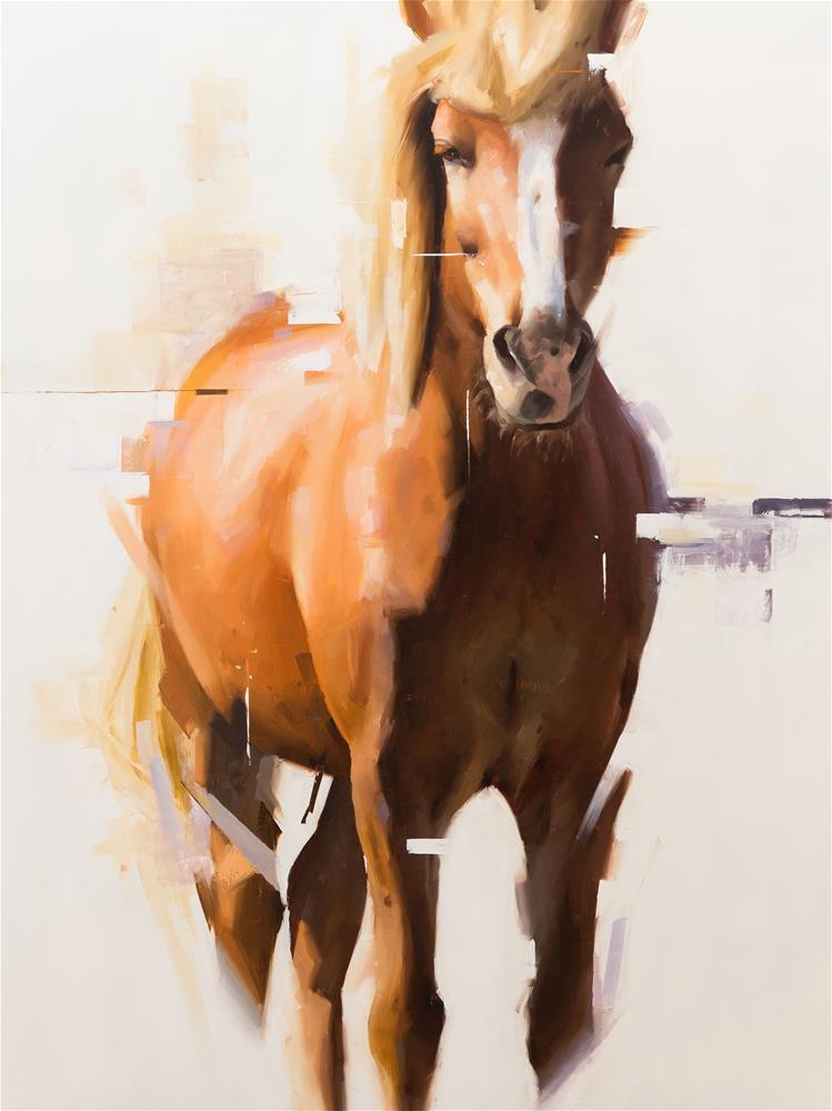 """""""Icelandic Horse 10"""" original fine art by Thorgrimur Andri Einarsson"""