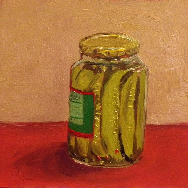 """Pickled"" original fine art by Marjie Laizure"