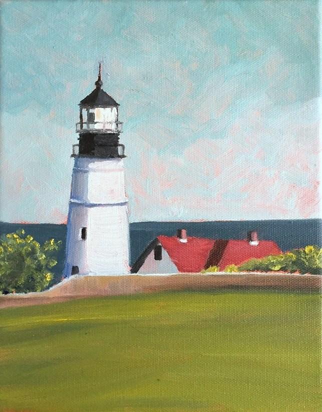"""""""Portland Head Light"""" original fine art by Tricia Granzier"""