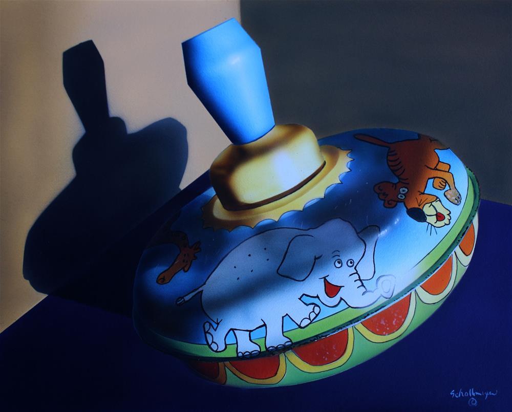 """Vintage Toy Top"" original fine art by Fred Schollmeyer"