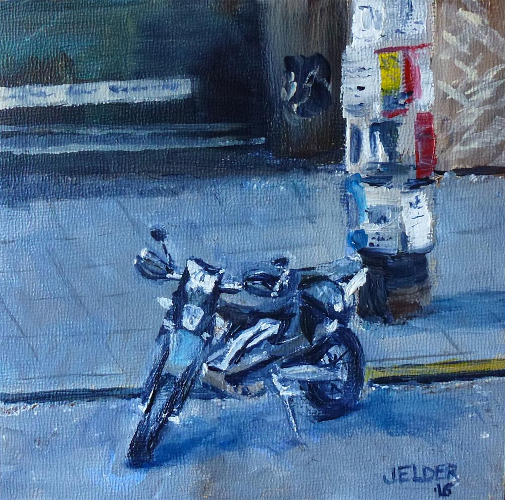 """Parking By Rudy's"" original fine art by Judith Elder"