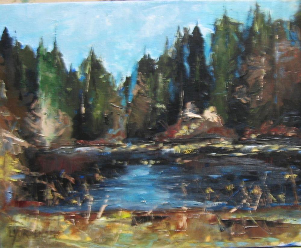 """8 x 10 inch oil On the Pond"" original fine art by Linda Yurgensen"