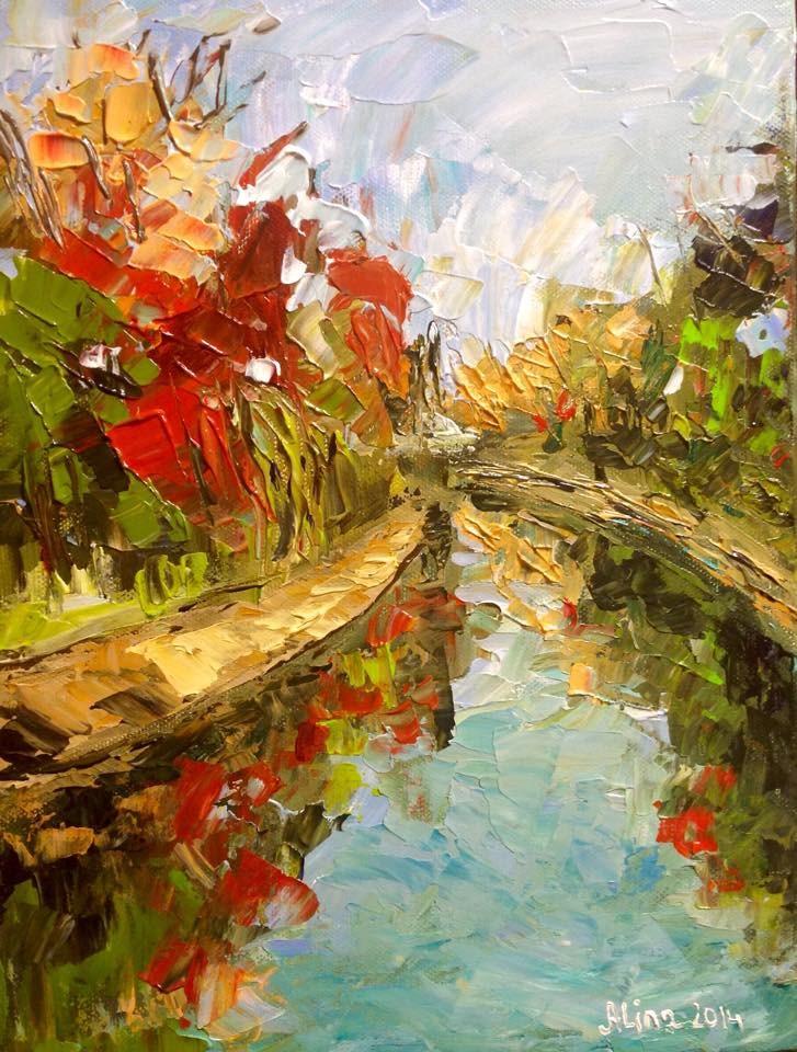 """""""Fall Day 2"""" original fine art by Alina Vidulescu"""