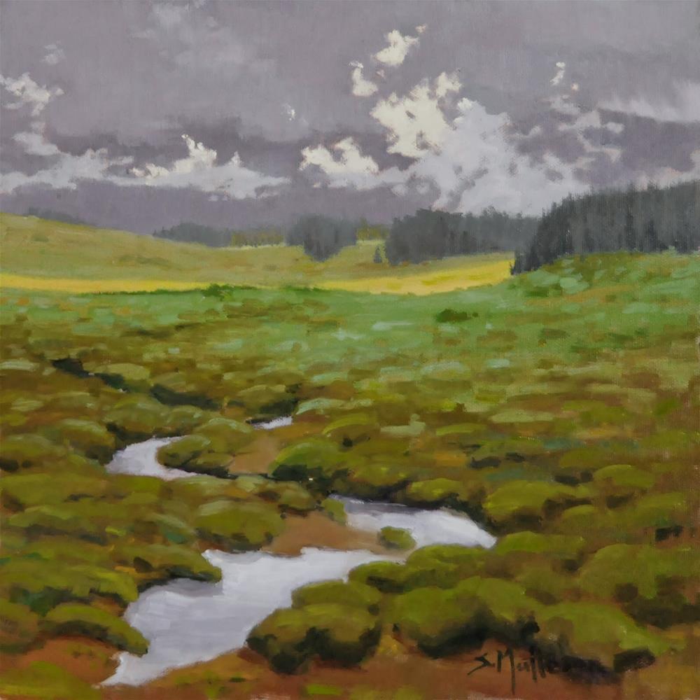 """Misty Mountains"" original fine art by Susan Matteson"