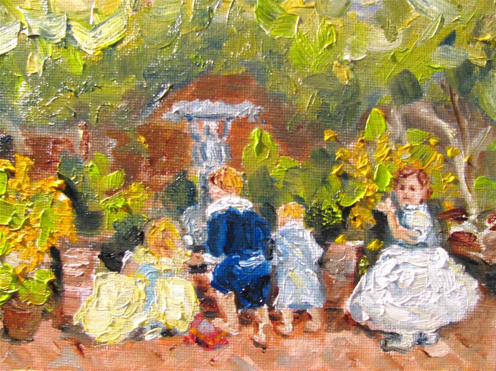 """Courtyard of Texada"" original fine art by Susan Elizabeth Jones"