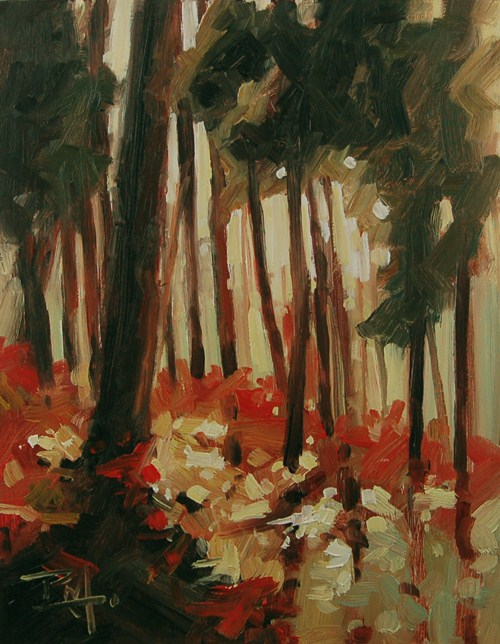 """No 469 Forest Floor"" original fine art by Robin J Mitchell"