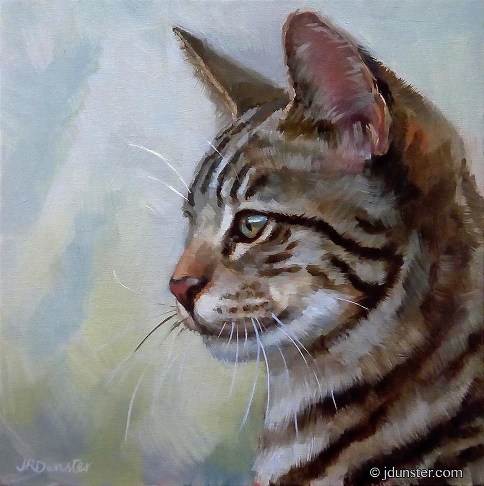 """Youthful Tabby"" original fine art by J. Dunster"