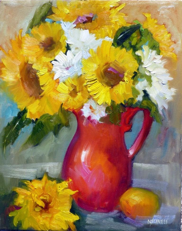"""Arizona Sunflowers 14018"" original fine art by Nancy Standlee"
