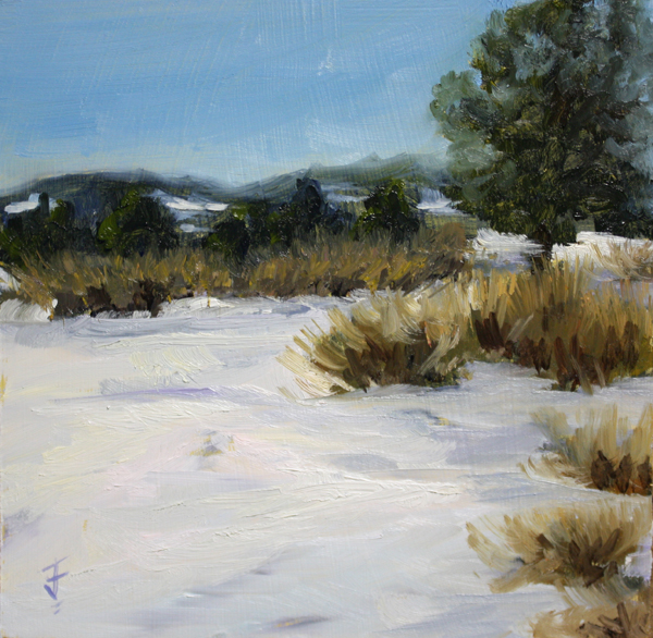 """Snow Field"" original fine art by Jane Frederick"