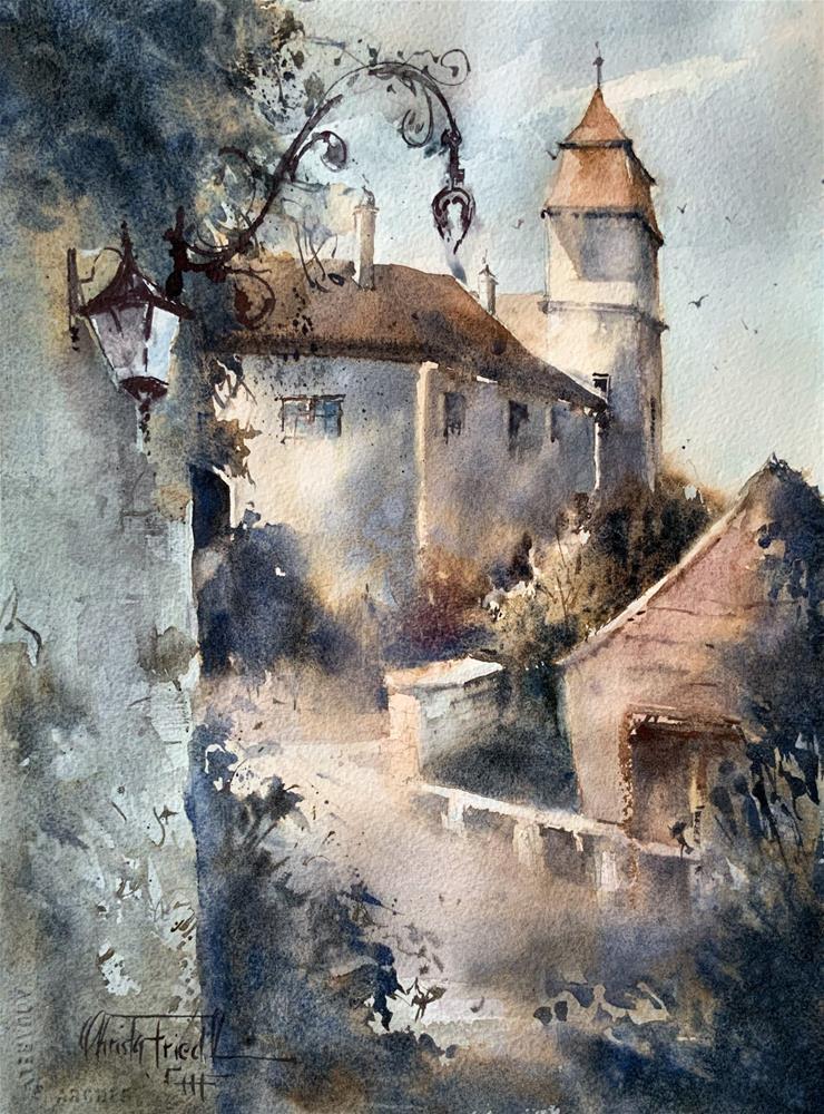 """Castle Bernstein"" original fine art by Christa Friedl"