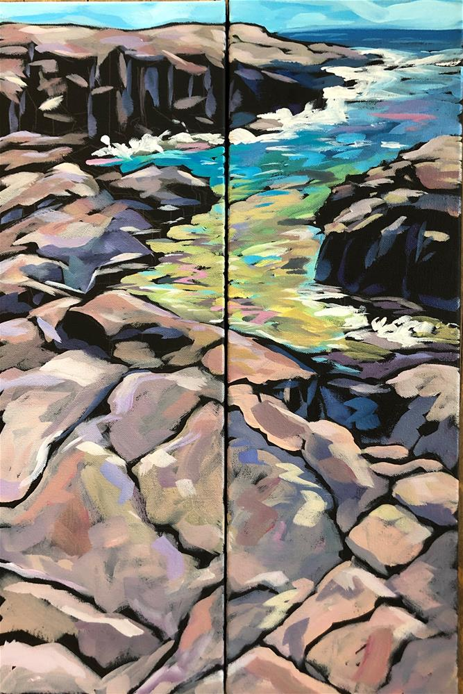 """""""Water to The Sky"""" original fine art by Kat Corrigan"""
