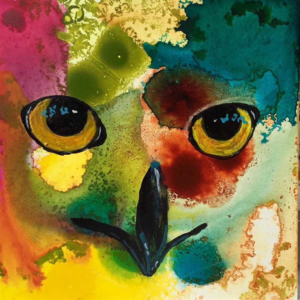 """""""#47 It's All in the Eyes"""" original fine art by Silke Powers"""