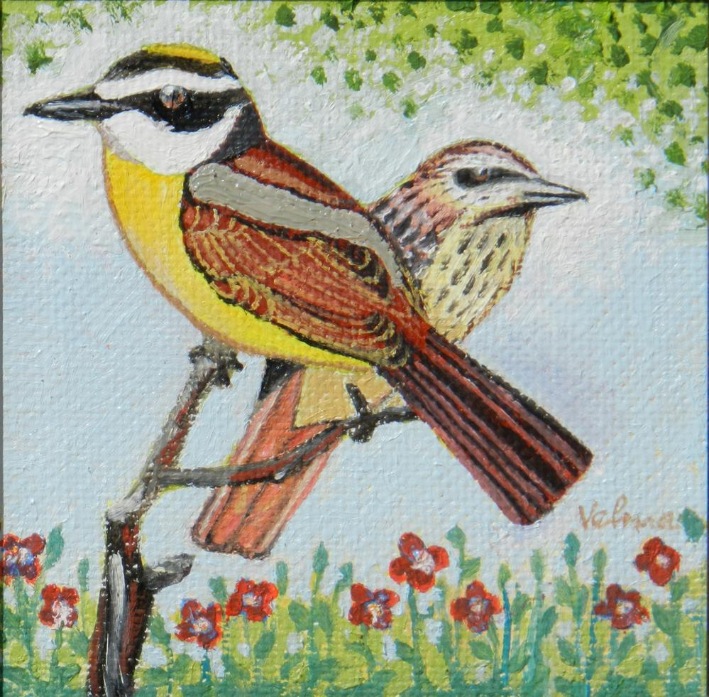 """Kiskadee Flycatcher"" original fine art by Velma Davies"