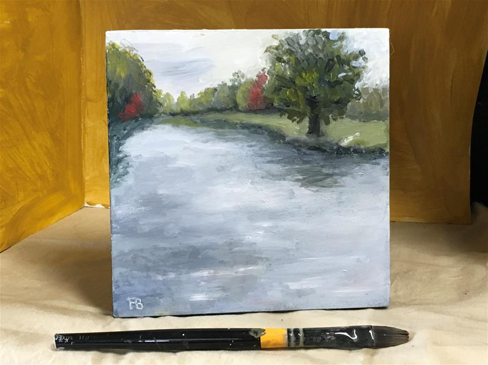 """""""209 The Little Lake"""" original fine art by Fred Bell"""